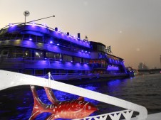The Blue Nile is just one of many river restaurants.