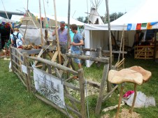 Craftsmen set up workshops where anyone can attempt to make something.