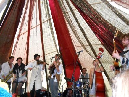 Rum Buffalo performs in the Bimble Inn Tent.