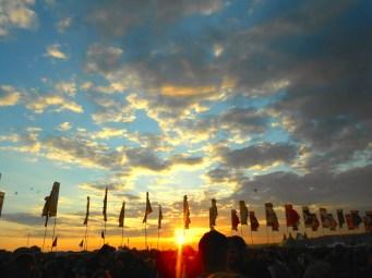 Sunset over Glastonbury