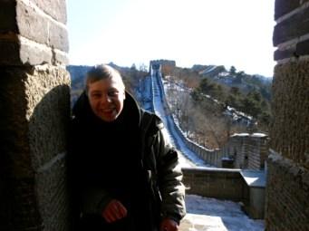 Nick at the Great Wall of China.