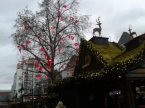 A stall and some decorations at the Koln Christmas Market