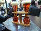 Drinking some Kwak out of the cool glasses