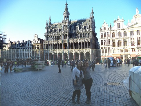 Caleigh and I in Grand Place