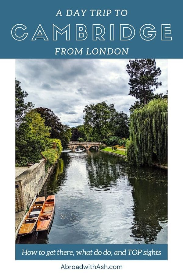 day trip to cambridge from london