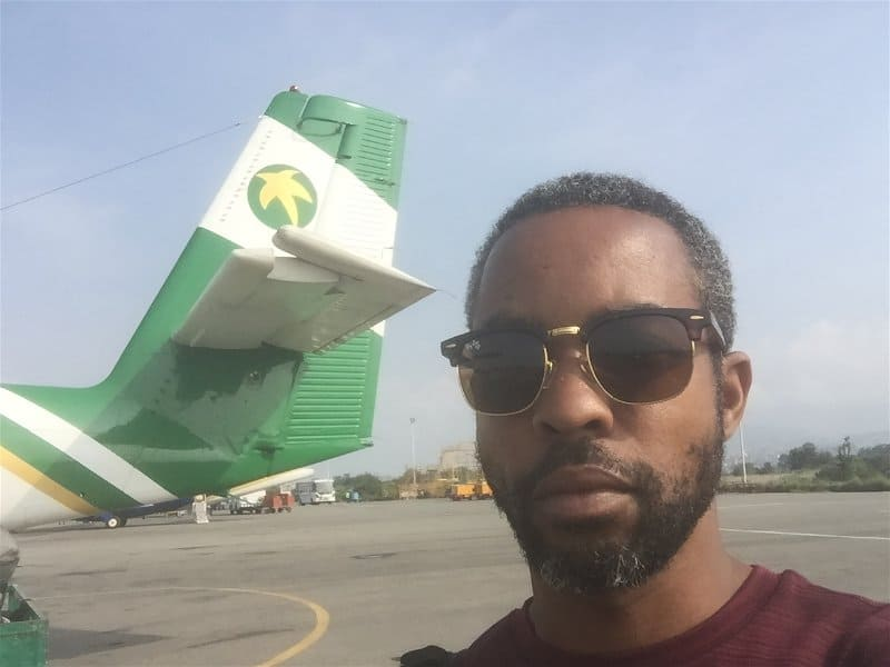 What I had planned to be the last picture with the plane that would kill me - don't mind that I look like a broken down refugee. I was sleep deprived and on the road for a while