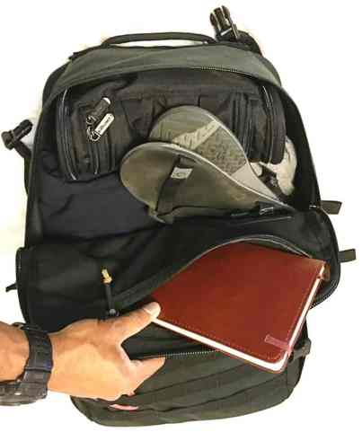 The GORUCK GR3 easy access design makes it the perfect world travel backpack