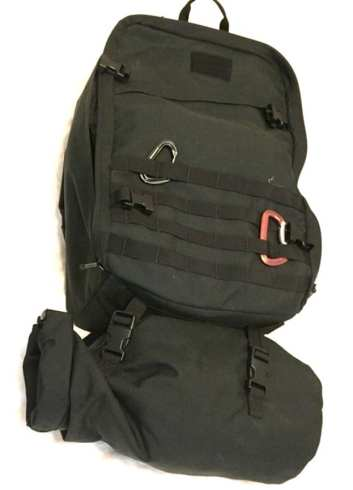 The GR3 Tough Compression bag easily straps to the bottom of the backpack to add 18 additional liters - for 63 total liters of capacity