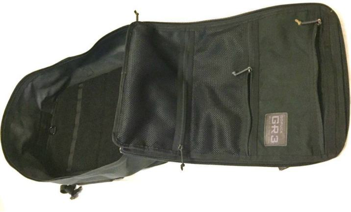 The GORUCK GR3 inner pockets are simple, minimalist, and easy to access. Great for storing important documents or undies and essentials