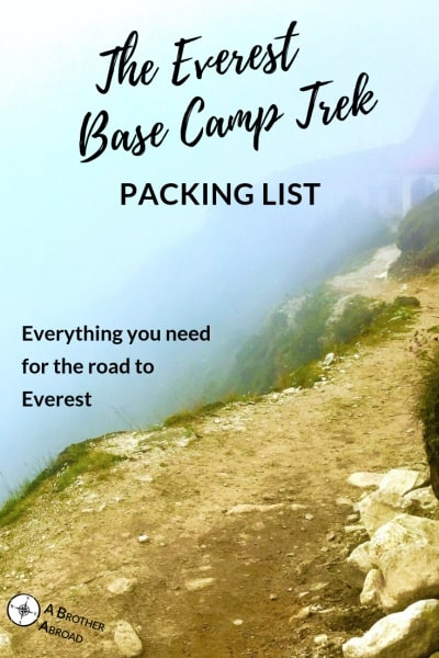 Everest Base Camp Packing List - everything you need to take on the Everest Base Camp Trek from backpacks, to shoes, to water filters