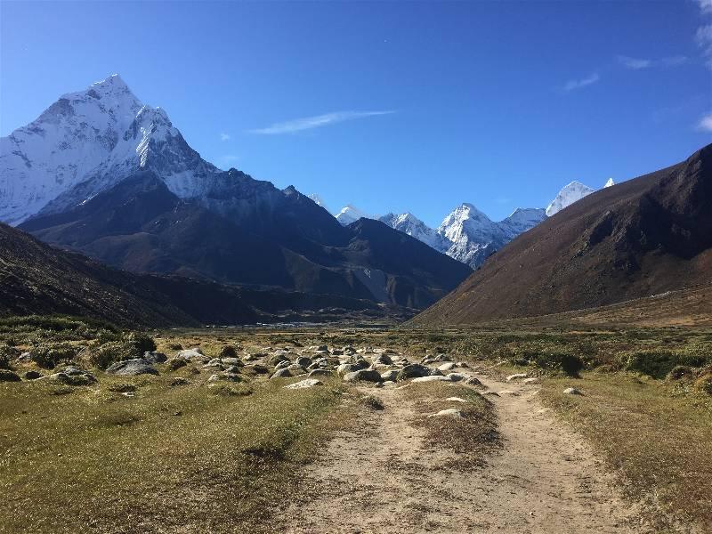 The road to Gorak Shep, through Pheriche, Dughla, and Lobuche