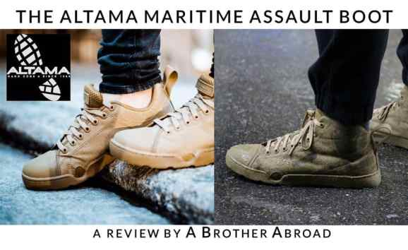 Review of the Altama Maritime Assault by a Brother Abroad - The Best Men's Travel Shoe Available