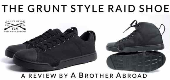 Grunt Style Raid Shoe Review by A Brother Abroad - the Best Men's Travel Shoe