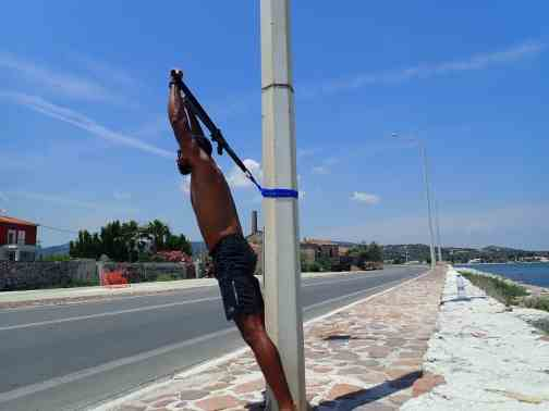 How to do the Military Press Overhead Press with a suspension Trainer or TRX