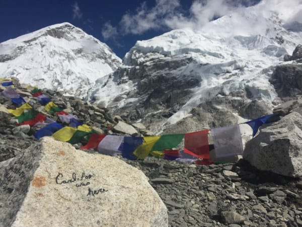 Leaving a mark at Everest Base Camp