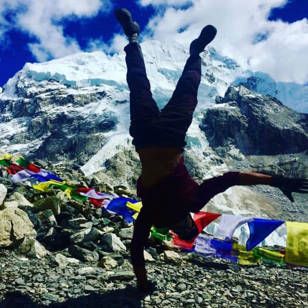 Celebrating after the Everest Base Camp Trek