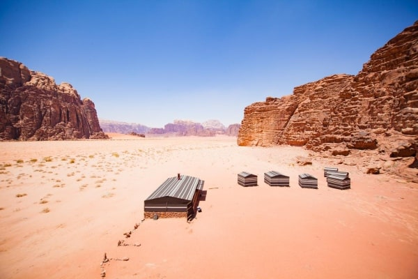 The Wadi Rum Bedouin Camp experience courtesy of Arabian Nights Bedouin Camp