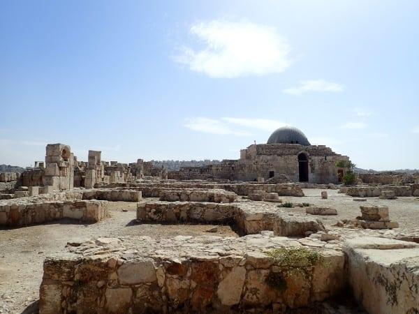 Ruins surround an Ummayad Mosque in Amman, Jordan