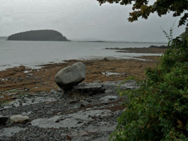 A rainy morning in Maine