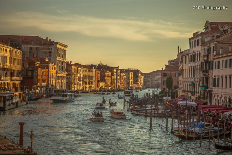 Grand Canal as the sun is setting