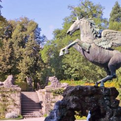 The Pegasus Fountain — at Mirabellgarten Salzburg.