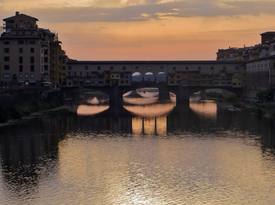 Sunset at the Ponte Vecchio, Florence