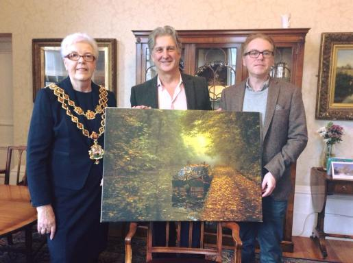 Mr Fletche presented his photo to the Lord Mayor of Birmingham, Anne Underwood