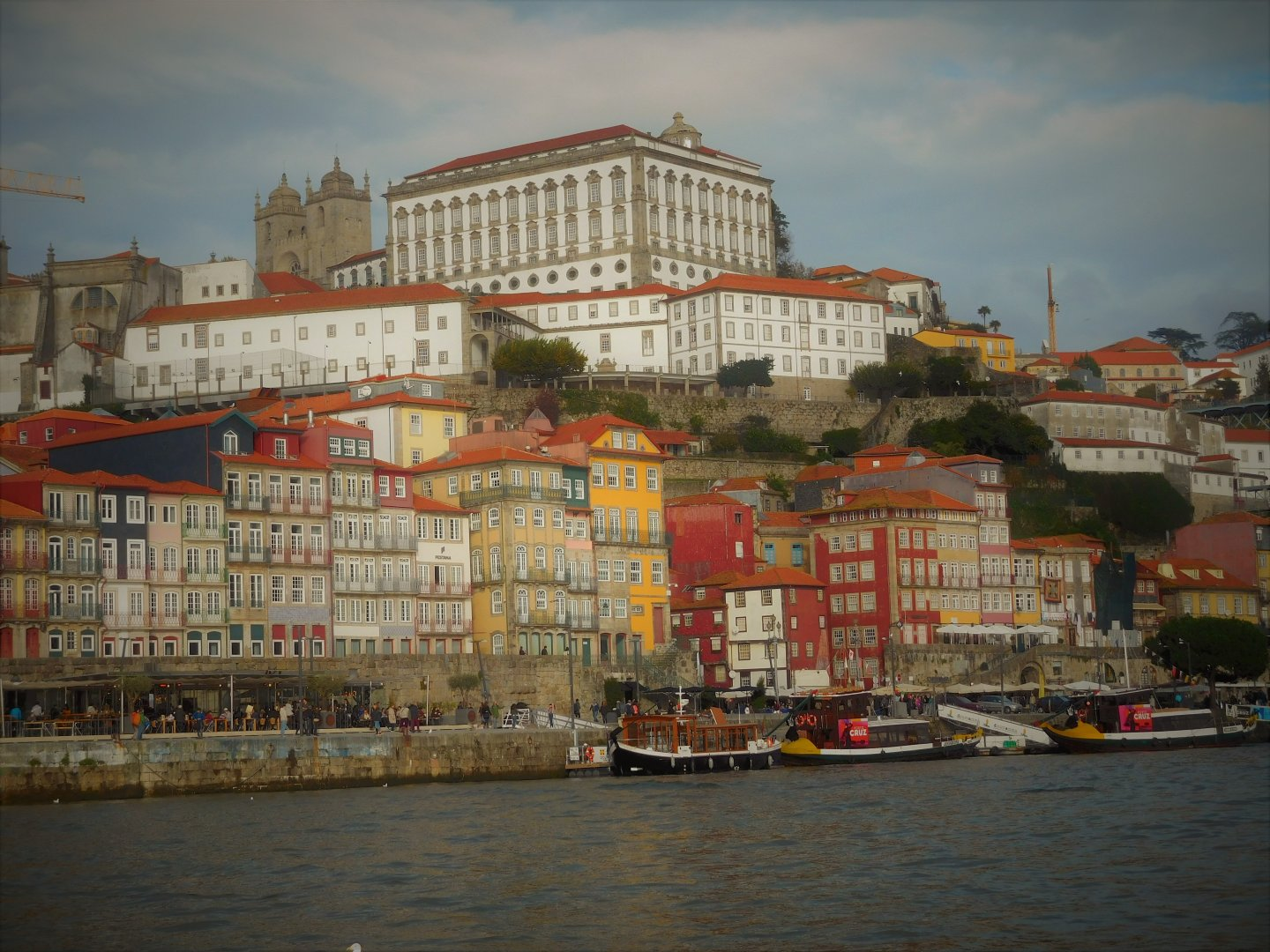 The colourful buildings of Porto and the Ribeira from the Douro River