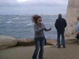 Windy day at Portland Bill