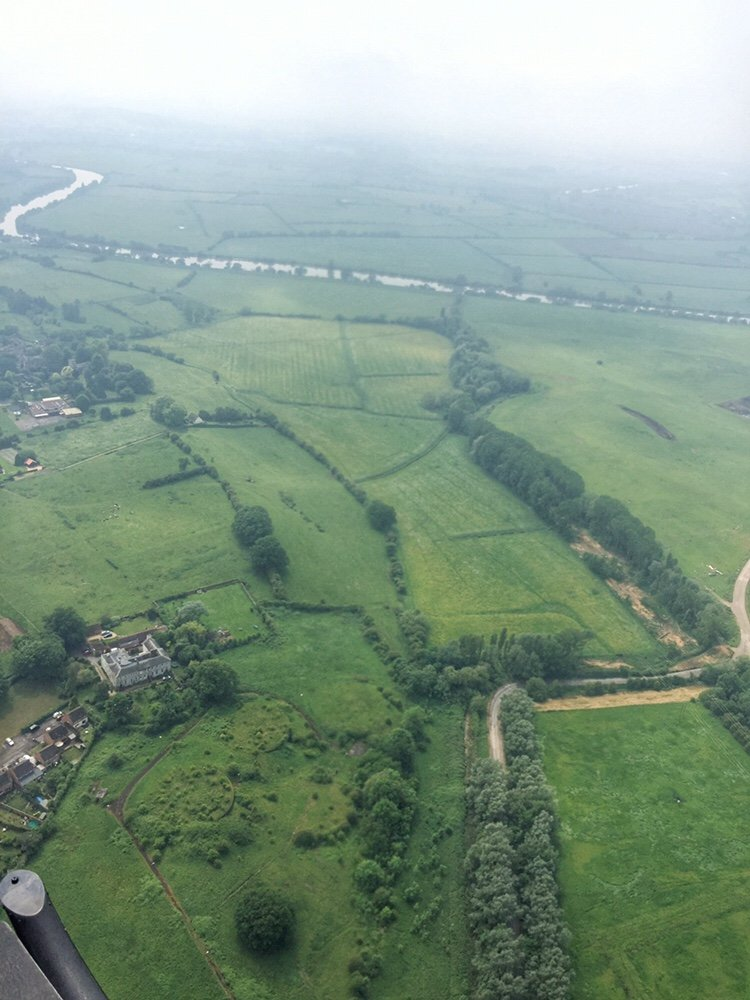 Aerial view of Gloucester and surrounding countryside
