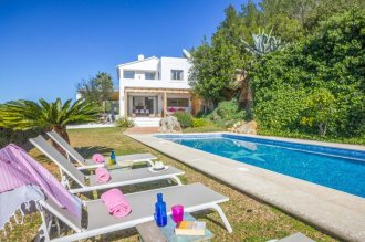 Villa, Ibiza, swimming pool, sun loungers