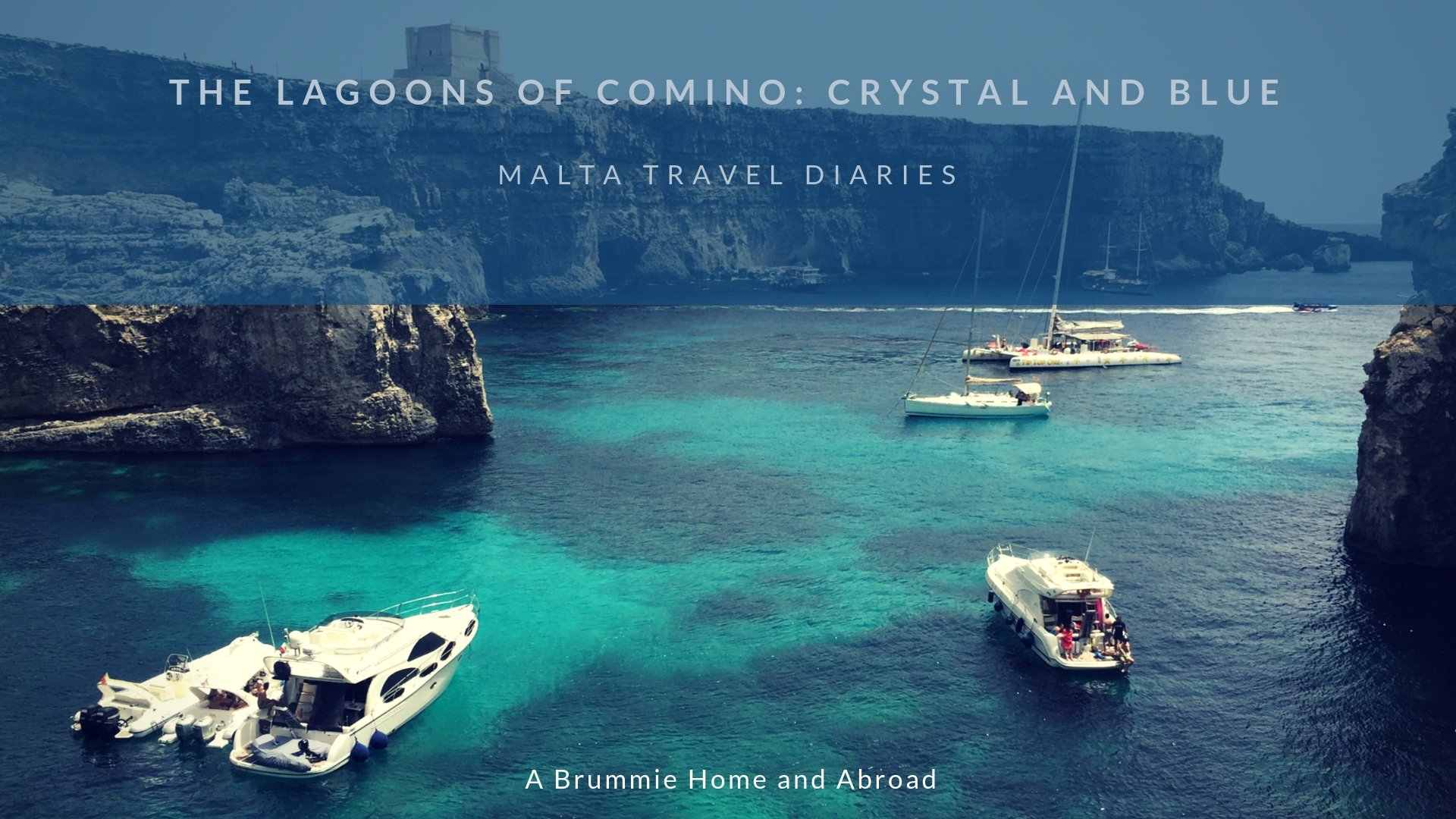 Malta Travel Diaries - Visiting the Blue Lagoon and Crystal Lagoon): On our final day in Malta we took a boat trip to the beautiful lagoons of Comino, a sparsely populated island between Malta and Gozo. Read on to find out why the Blue Lagoon is not entirely like its depicted in those Instagram pictures...
