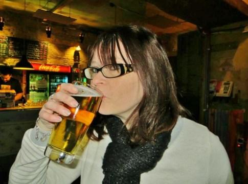 Enjoying a beer at Szimpla kert