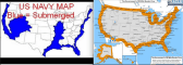 'US navi map of the future' and map of conswstitution free zone