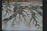 Lightning damage on concrete