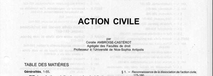 Pour Ambroise Casterot Du Repertoire Penal Dalloz La Seule Victime