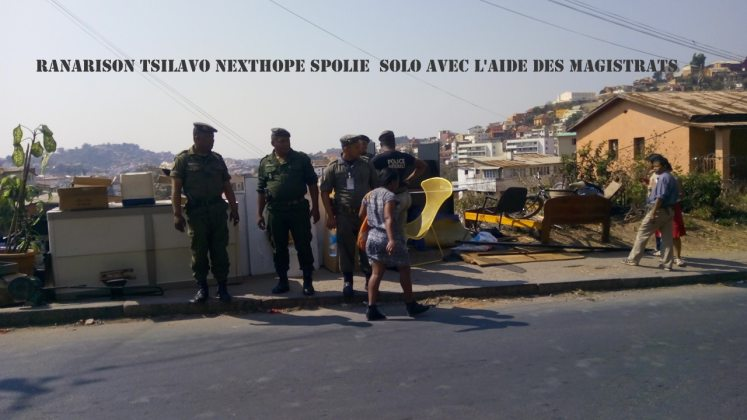 RANARISON Tsilavo NEXTHOPE spolie Solo avec l'aide des magistrats malgaches