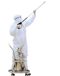 Core2Clean for mopping and spraying cleanroom walls