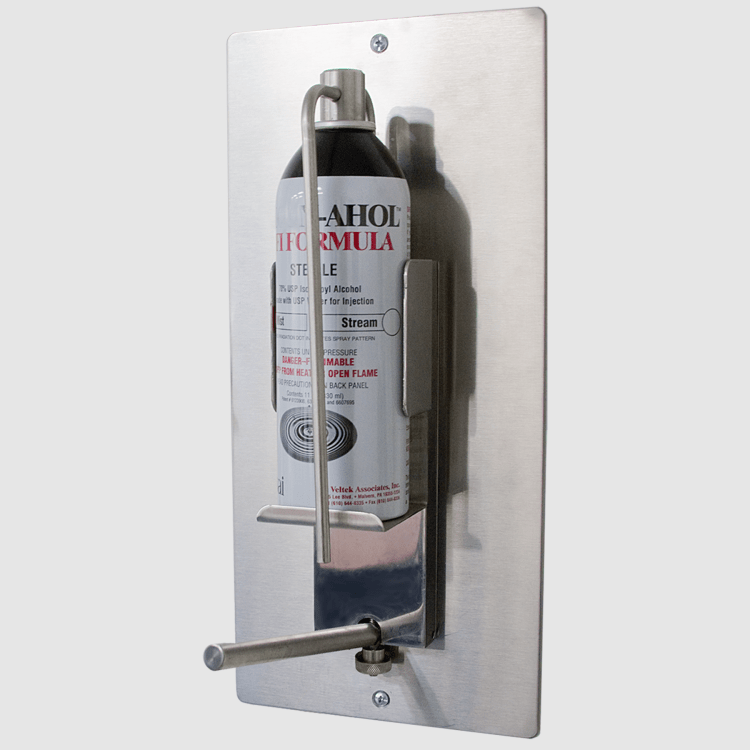 Wall mounted alcohol dispenser for gloved hands