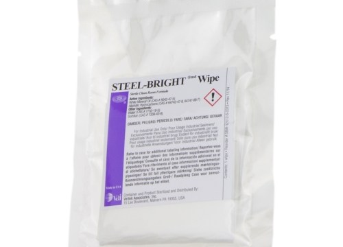 Steel Bright Wipes for use in cleanrooms to clean and protect stainless steel