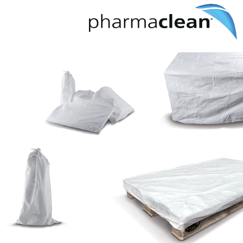Pharmaclean Tyvek Covers and bags for use with an autoclave in a cleanroom