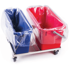 Sterile Bucket liners for cleanroom disinfection