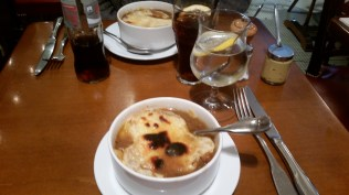 French onion soup of course.