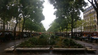 We tried out the Bastille market in Paris on a rainy day. Good selection but at a higher cost than Montreuil.