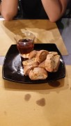 Biscotti with some vinsanto for dunking.