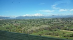 Spanish countryside. We lucked out with the weather, apparently.