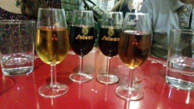 And followed with different types of sherry. A real treat.