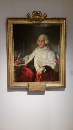 We found a painting of the guy the street we stayed on was named after.