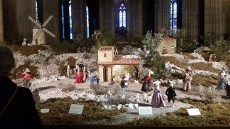 The last thing we did was go back to the cathedral and shell out nine euros to see a Christmas village. You are looking at what claims to be the larges nativity scene in the world.