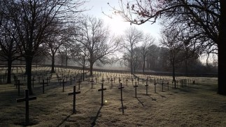 A German cemetery in Fricourt. This was an early resting place of the Red Baron before he was re-interred in Germany.